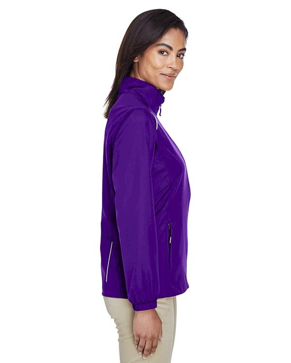 Core 365 Ladies Motivate Unlined Lightweight Jacket Campus Purple Side