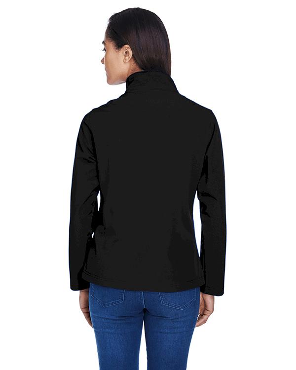 Team 365 Ladies Leader Soft Shell Jacket Black Back