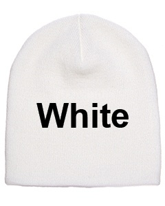 yupoong adult knit beanie white