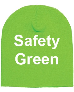 yupoong adult knit beanie safety green