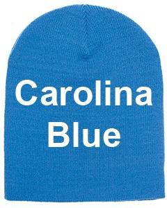 yupoong adult knit beanie carolina blue