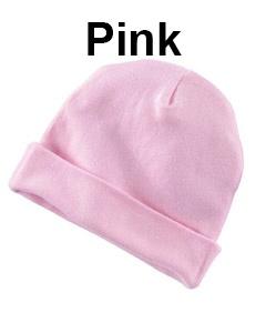 Rabbit Skins Infant Baby Rib Cap Pink
