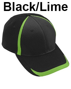 Augusta Drop Ship Adult Change Up Cap Black/Lime