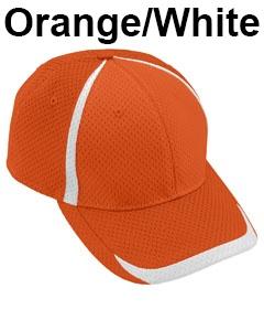 Augusta Drop Ship Adult Change Up Cap Orange/White