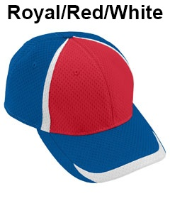 Augusta Drop Ship Adult Change Up Cap Royal/Red/White