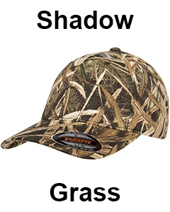 Flexfit Adult Mossy Oak Pattern Camouflage Cap Shadow Grass Front Camouflage Cap