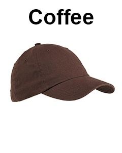 Big Accessories 6-Panel Brushed Twill Unstructured Cap Coffee