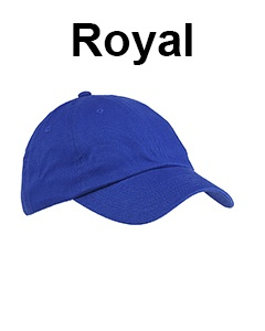 Big Accessories 6-Panel Brushed Twill Unstructured Cap Royal