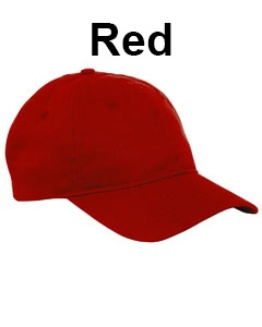 Big Accessories 6-Panel Twill Unstructured Cap Red