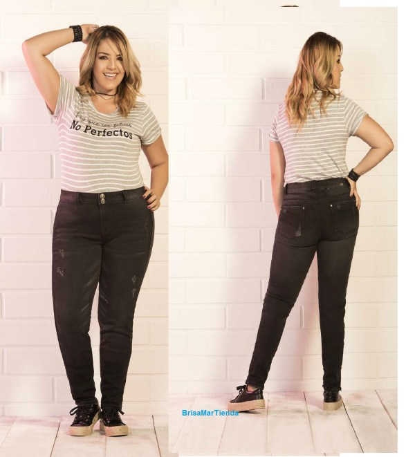 pantalon jean en color negro