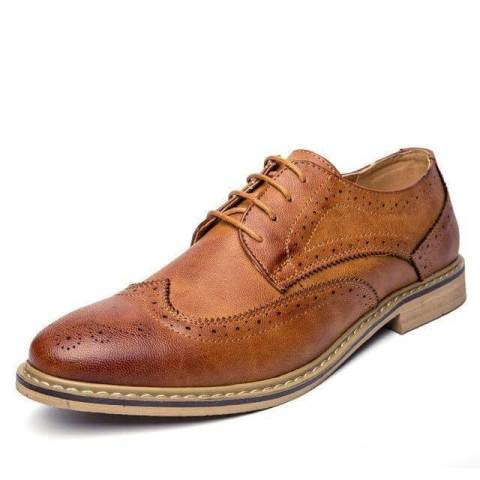 Zapato formal en cuero genuino tipo oxford para  oficina