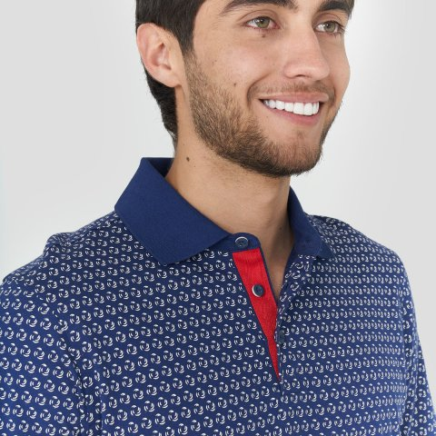 Polo Jersey Regular Fit Estampado para hombre