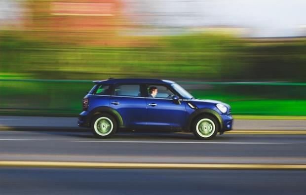 Blue Car Driving