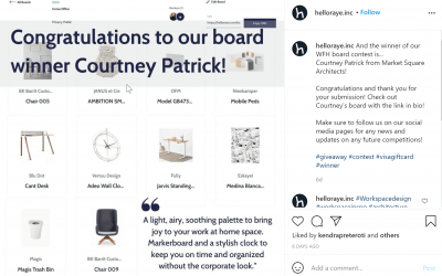 Our Own Courtney Patrick Wins the Hello Raye Design Contest!