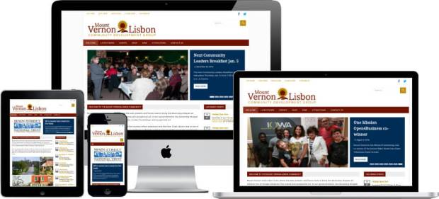 screenshot of VisitMVL.com mobile friendly