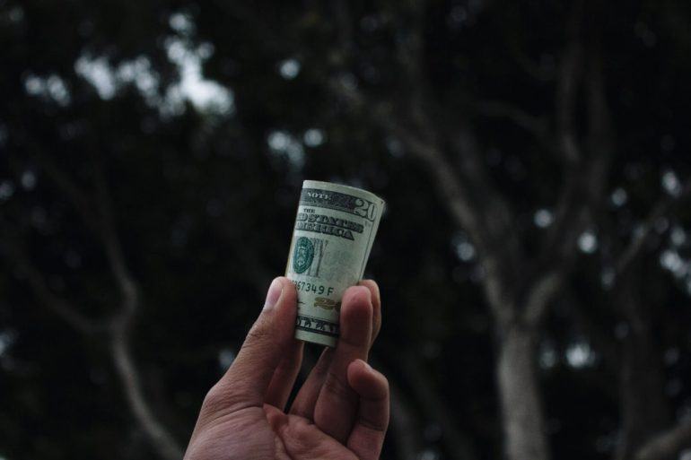 picture of person holding money in hand