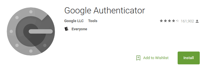 picture of Google Authenticator app in app store