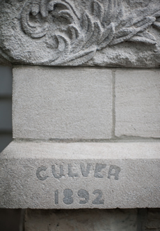 Stamp Culver 1892 into cement block on the Inn