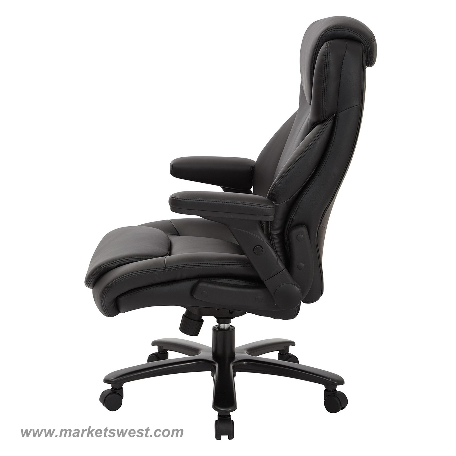 back support for office chairs big w boppy vibrating chair and tall high bonded leather executive with