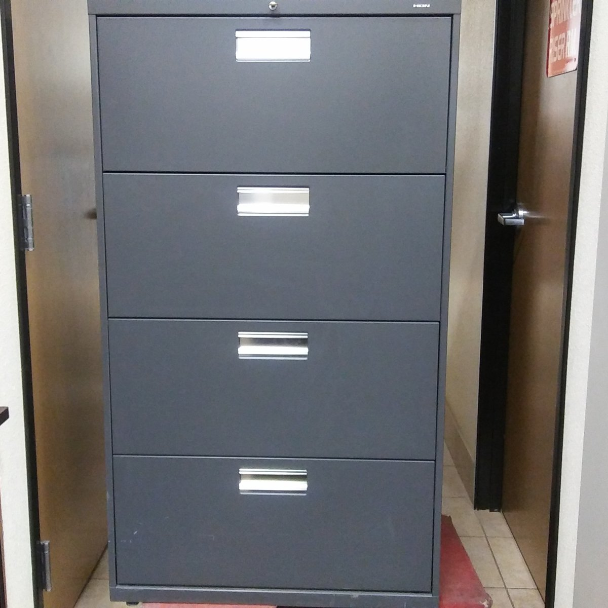 HON 4Drawer Lateral File Cabinet  Used