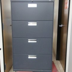 Drafting Office Chair Teardrop Swing Hon 4-drawer Lateral File Cabinet - Used