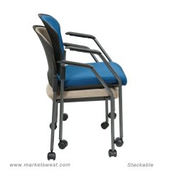 Stackable Rolling Chairs Small For Spaces Visitors Chair With Upholstered Back