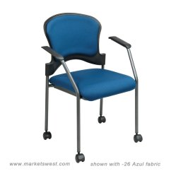 Stackable Rolling Chairs Wood Chair Seat Replacement Visitors With Upholstered Back