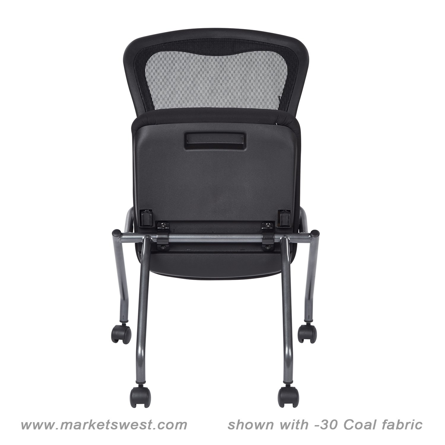 folding chair no arms leather captains deluxe with progrid back