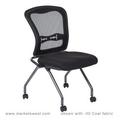 Folding Chair No Arms Cheetah Print Chairs Deluxe With Progrid Back