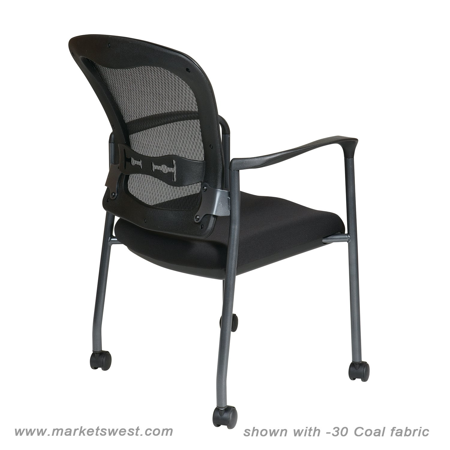office chair supports 300 lbs race car progrid mesh back visitors with padded fabric seat