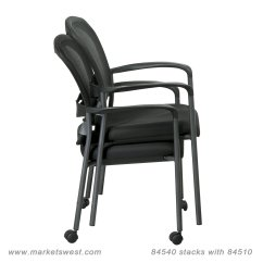 Office Chair Supports 300 Lbs Neck Pain Progrid Mesh Back Visitors With Padded Fabric Seat