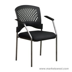Folding Visitor Chair Reading Nook Pro Line Ii Titanium Finish Black Visitors With Arms