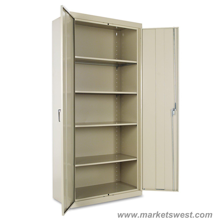 Alera Heavy Duty Welded Metal Storage Cabinet 78x36x18