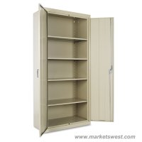 Alera Heavy Duty Welded Metal Storage Cabinet 78x36x18