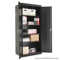 Alera Heavy Duty Welded Metal Storage Cabinet 78x36x24