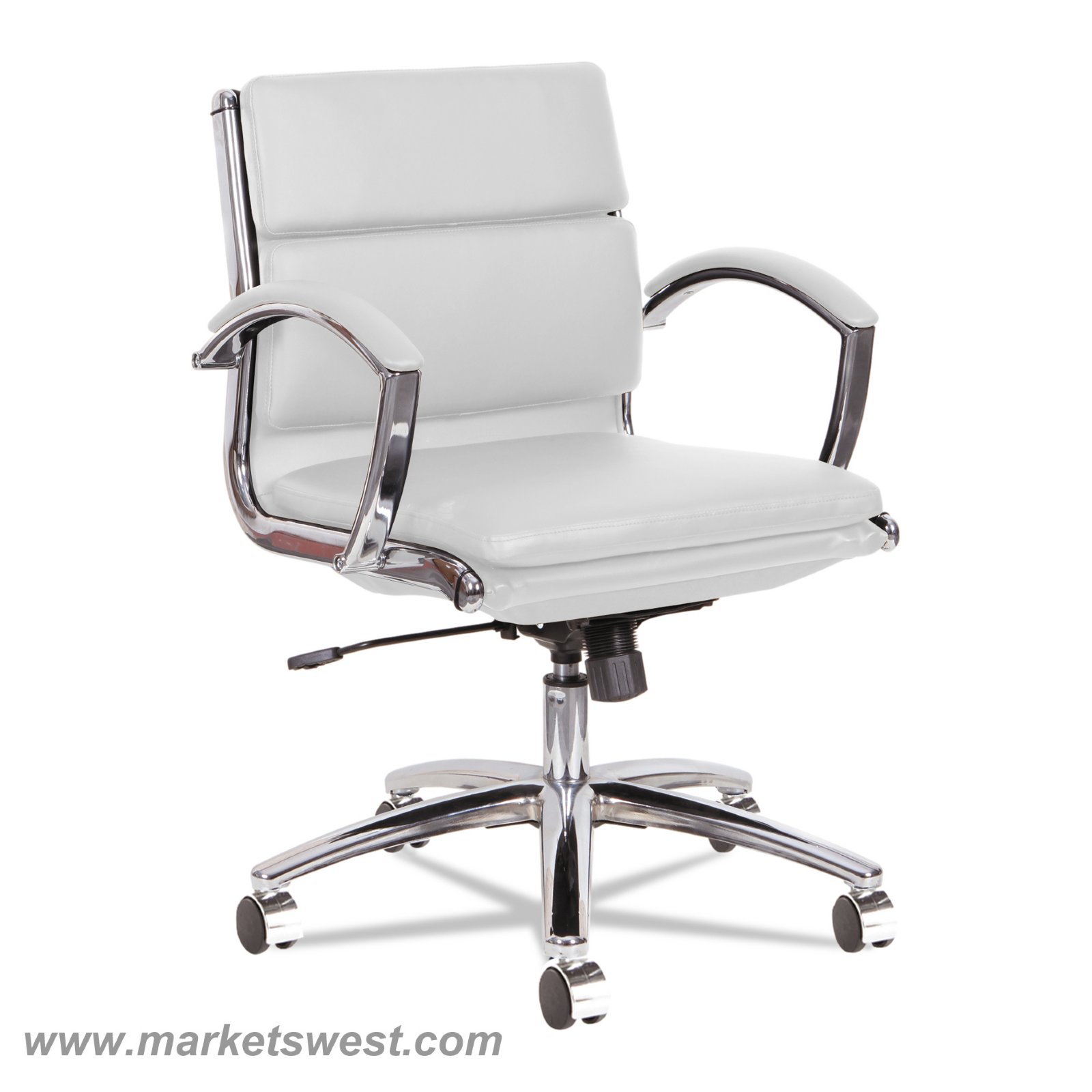 leather chrome chair accent chairs clearance neratoli low back swivel tilt red soft touch loading