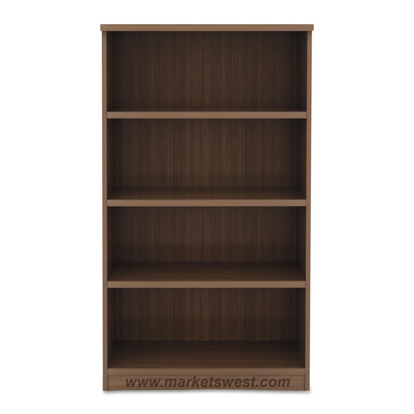 Alera 4 Shelf Laminate Bookcase