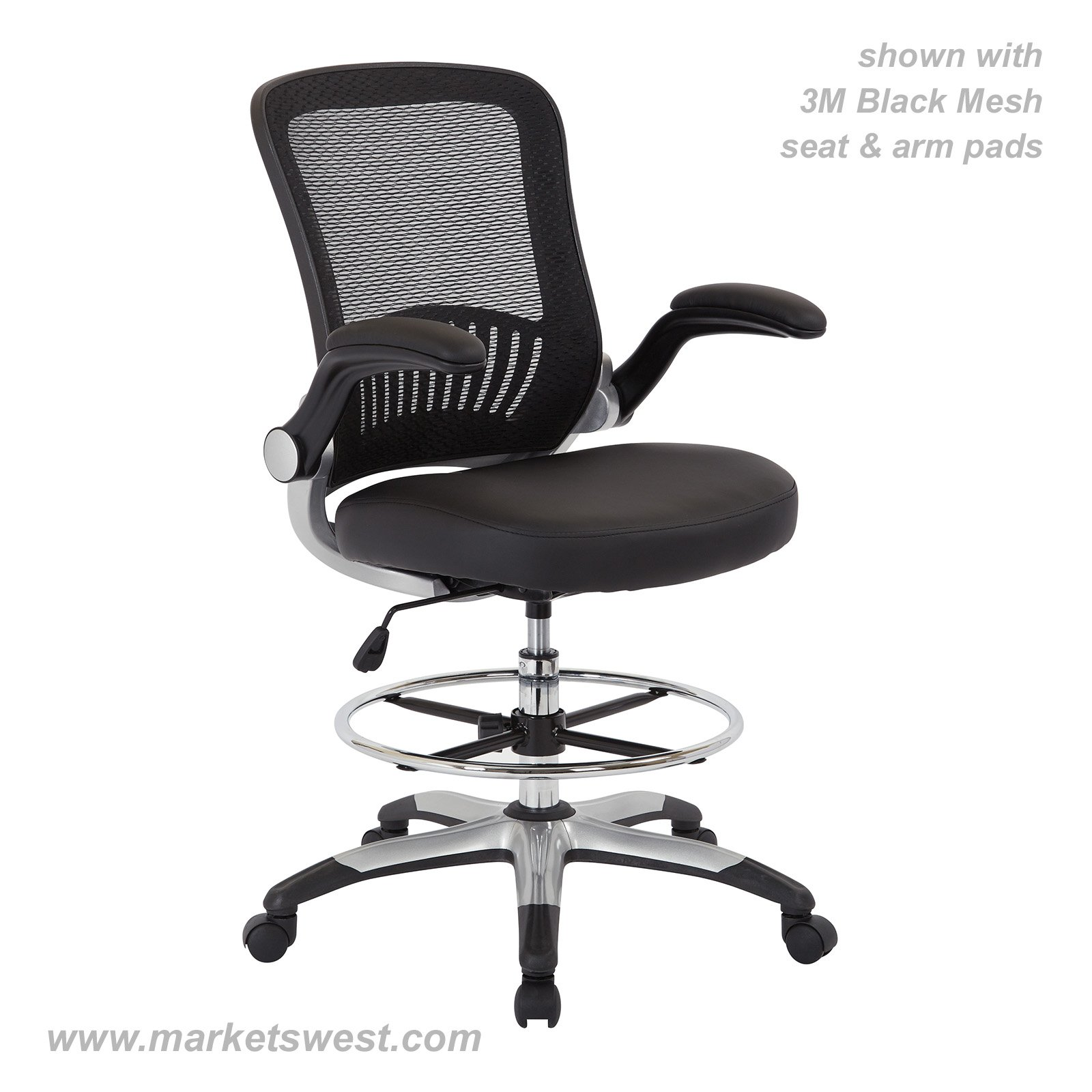 chair mesh stool outside fold up chairs black back drafting dcy69006 6 61 detail jpg