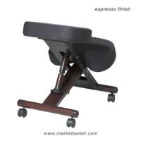 Ergonomically Designed Mahogany Finished Wood Knee Chair ...