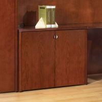 2-Door Storage Cabinet 37x20 Mahogany or Light Cherry