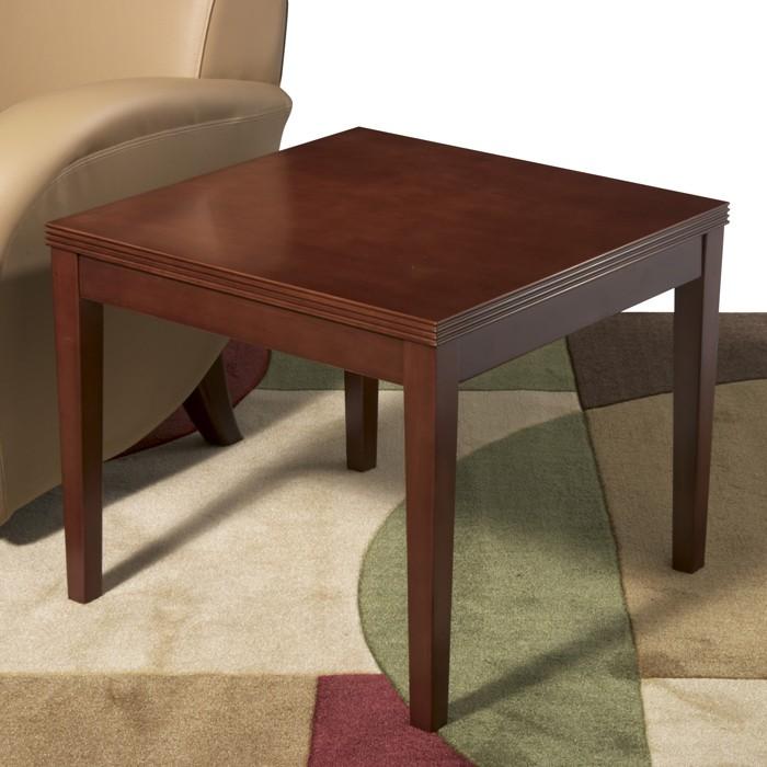 end table 24x24x20 mahogany or light cherry
