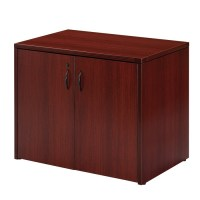 2-Door Storage Cabinet 36X22, Cherry or Mahogany