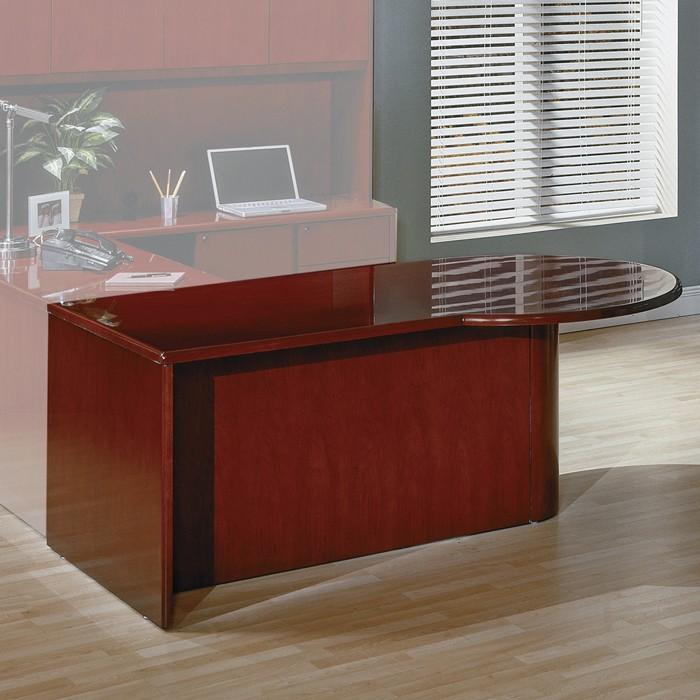 Left PTop Desk 72X42 Dark Cherry Wood