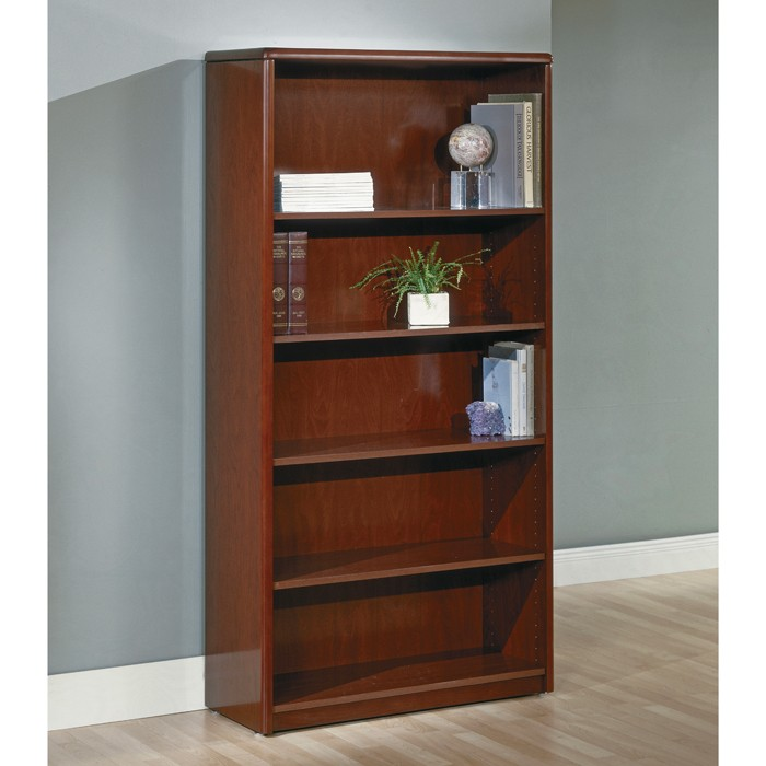 5Shelf Bookcase 70 inch Dark Cherry Wood
