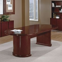 Drafting Office Chair Ikea Bernhard 8ft Racetrack Conference Table, Dark Cherry Wood