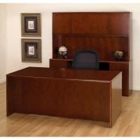 Executive Office Desk Suite in Dark Cherry Wood