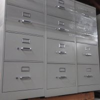 4-Drawer HON Vertical Legal Size File Cabinets - Used