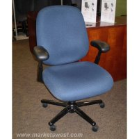 Herman Miller Ergon Blue Fabric Mid Back Task Chair