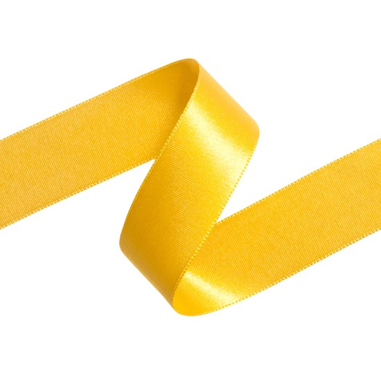 50MM FRENCH DOUBLED FACED SATIN RIBBON-50mm-YELLOW GOLD
