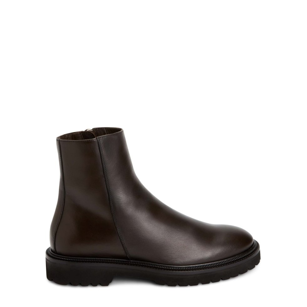 Aquatalia Pasquale Dark Brown In Size 13 - Leather - Made In Italy